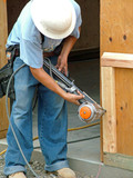 construction worker, carpenter poster