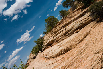 diagonal sky and sandstone