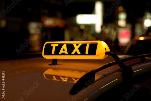 Leinwandbild Motiv taxi