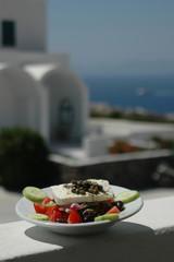 greek salad scene
