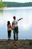 father daughter lake poster