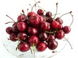 deep red sweet cherries