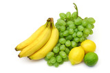 yellow-green fruits still-life poster