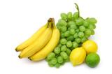 yellow-green fruits still-life poster