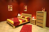 Fototapety red modern bedroom
