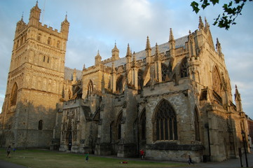 exeter cathedral evening