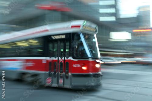 Leinwandbild Motiv moving streetcar