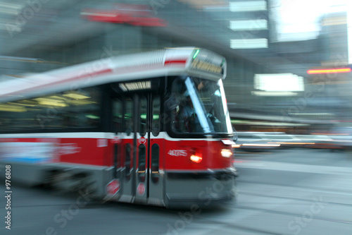 Juliste moving streetcar