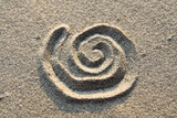 spiral sign in sand poster
