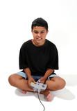 boy playing video game poster