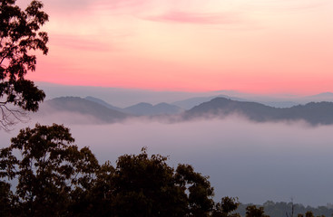 foothills parkway dawn, great smokey mountains national park, te