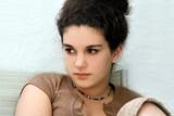 teenage girl thinking poster
