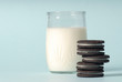 Leinwandbild Motiv milk and cookies