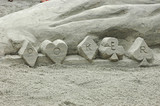 poker sand sculpture poster
