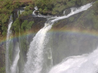 rainbow over iguazu
