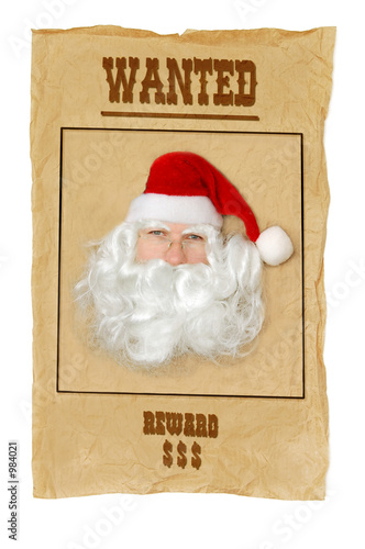poster of santa clause wanted
