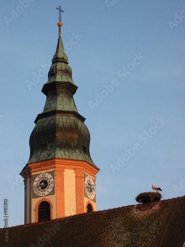 Leinwanddruck Bild hochdorfer kirchturm