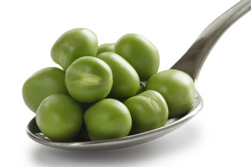 spoon of peas