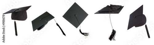 canvas print picture tossing mortarboards