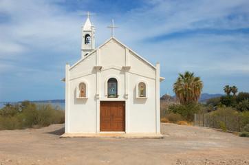 Church in Muleje, Baja California, Mexico