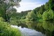 Leinwanddruck Bild - down the river...