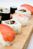 sushi platter close up poster