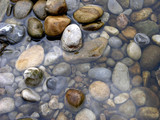 pebbles in water poster