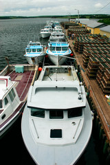fishing boats lined up