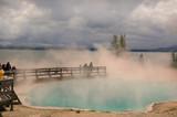 west thumb geyser basin poster