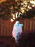 halloween lawn ghost poster