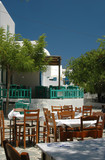 restaurants and cafes in greek village poster