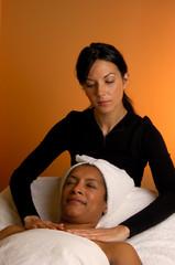 massage by masseuse at day spa salon