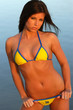 girl in yellow bikini