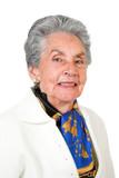 beautiful elderly woman smiling poster