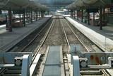 empty railway tracks poster