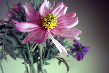 pink fake flower