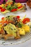 Obraz na płótnie salade de poulet exotique