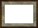 antique rustic marble picture frame poster