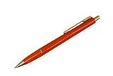 red ballpoint pen poster