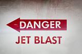 danger jet blast - grunge poster