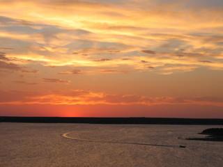coucher de soleil au texas