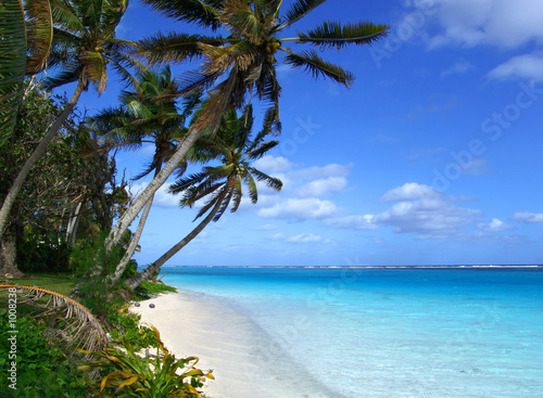 Leinwandbild Motiv island lagoon