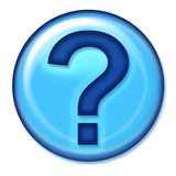 question web button poster