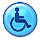 handicap web icon poster