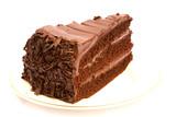 Fototapety slice of chocolate cake