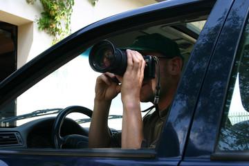 privatdetektiv bei der arbeit