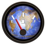 world gasoline meter poster