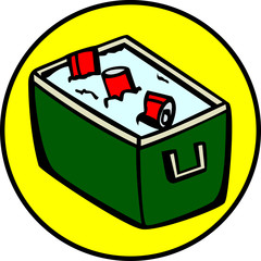 cooler with beverage cans