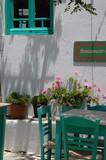 greek island cafe poster