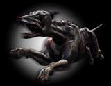 hell hound running poster